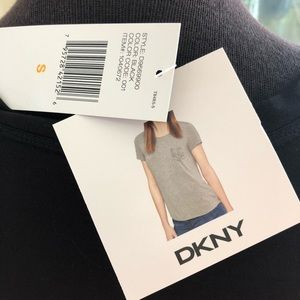 DKNY Tops - NEW DKNY Black T-Shirt, size S